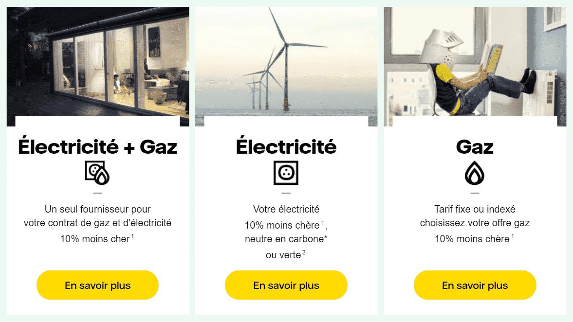 offres électricité et gaz vattenfall
