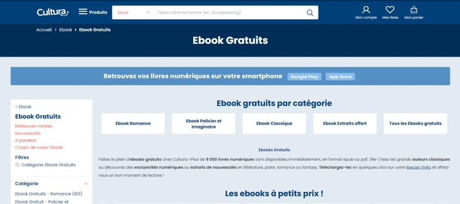 cultura ebooks gratuits